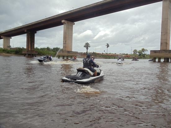 Ponte Moju 1, em frente a cidade
