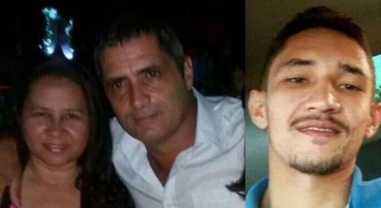 Vítimas em fotos recentes: Rita da Cruz Souza, Atamir Nascimento de Souza e filho do casal Ronildo da Cruz Souza