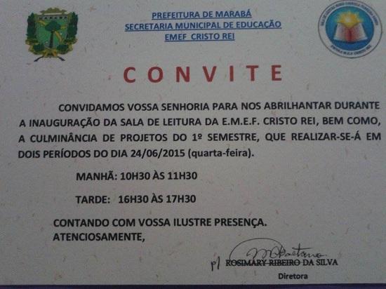 Convite escola