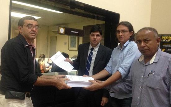 Vereadores Cícero, Cláudio e Luizinho acompanhado do Mario Hesketh: desvendando o novelo da corrupção em Xinguara
