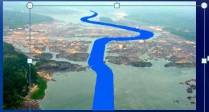 E como ficaria o canal da hidrovia, depois da derrocagem, seguindo projeto da UFPA.