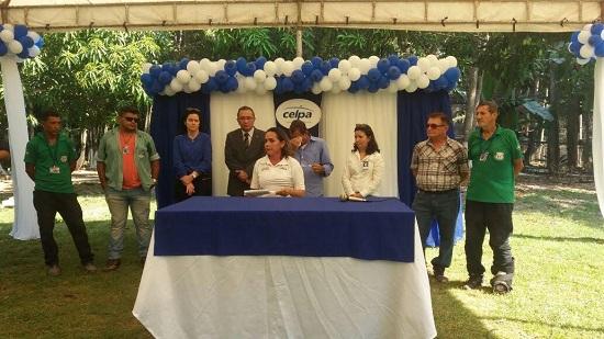 Dirigentes da Celpa e do Parque Zoobotânico participam de ato solene de inauguração .