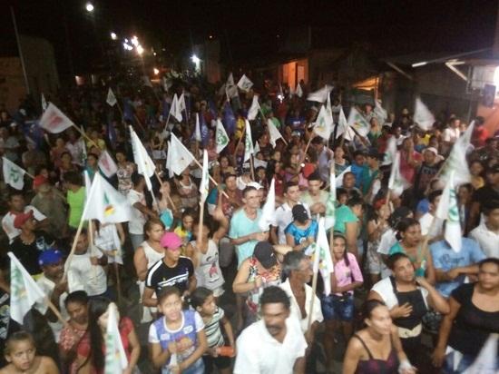 Comício da candidata do PMDB em Nova Ipixuna