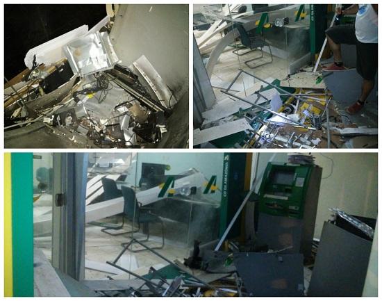 Agência do Banpará destruída na noite de quinta. ( Foto: Divulgação/PC.)