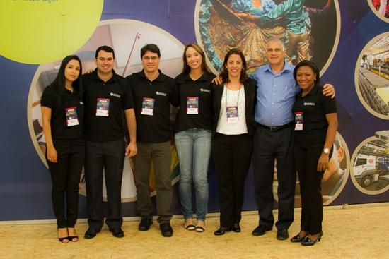 Equipe Sinobras com os diretores da siderúrgica,  Cinthia Cavalcanti e Clayton Labes