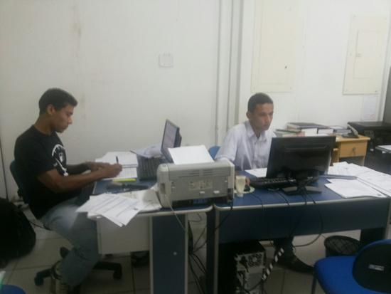 ... Renan Leite e Heliam Paulino, trabalham duro para recuperar créditos fiscais do município.