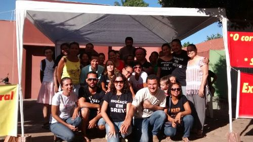 Professores de Xinguara em greve de fome.