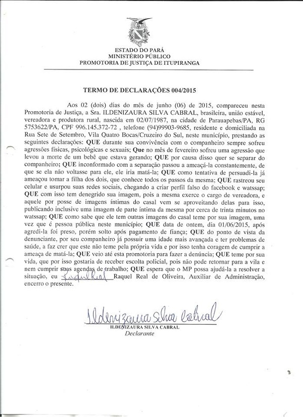 Izaura documento