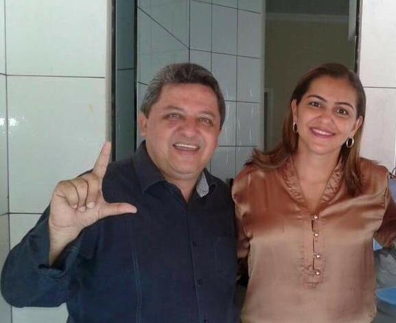 Jair Farias e a primeira-dama, Theresa Farias.