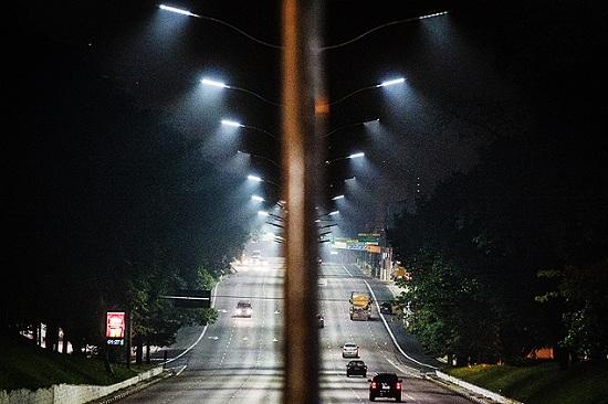 Ruas iluminadas com LED