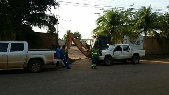 Portão principal da Limpus interditado: calote revolta pequena empresa de Marabá