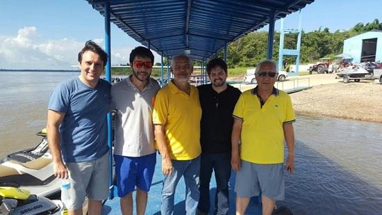 Thiago, Flávio, Janary, Ciro e Hiroshi Yamada