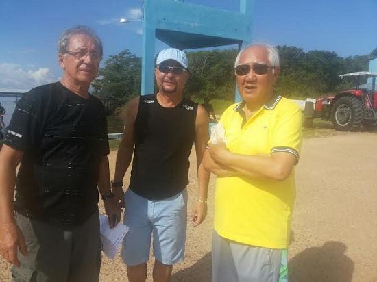 Lionel Pinho, Hudson Silva e Hiroshi Yamada