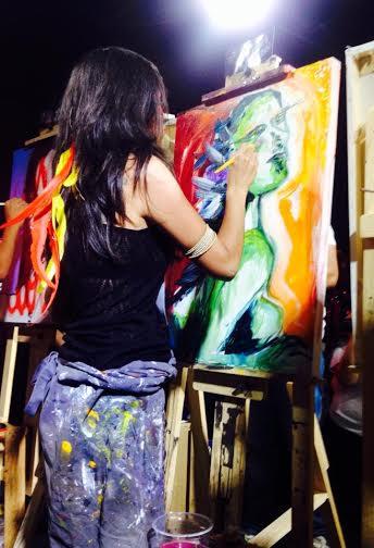 Moara pintando no Art Battle