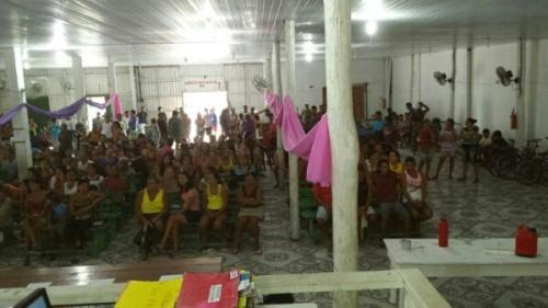 Pescadores lotaram as dependências da Colônia de Oeiras, para ouvir o presidente da entidade, Beto Salame e Chico da Pesca.