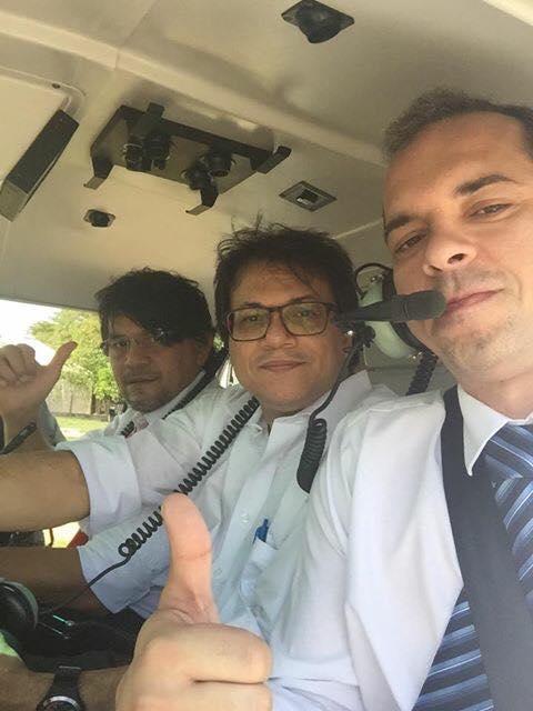 Em helicóptero da Polícia Militar, Procurador Geral do Trabalho, o número um do MPT, ao lado de Jônatas Andrade, sobrevoa Marabá e a da região campeã nacional de trabalho escravo,