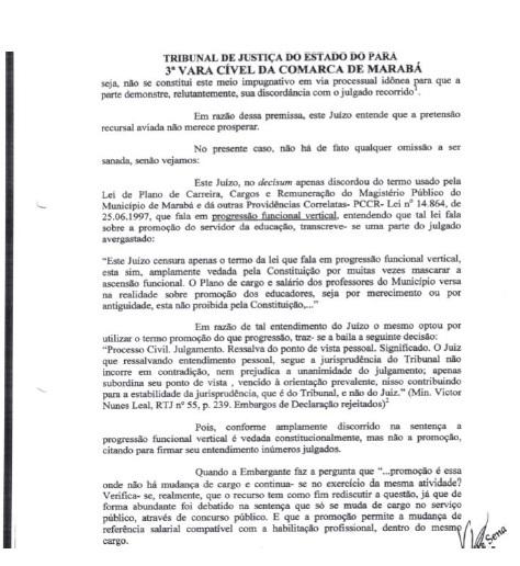 Resposta Juiza paraJulio Cesar