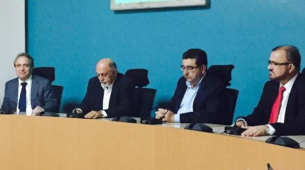 Murilo Ferreira (Vale), Simão Jatene,  Adnan Demachki e João Salame