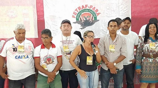 Vivian discusa, depois de empossada nova coordenadora-geral da Fetraf, no Pará.