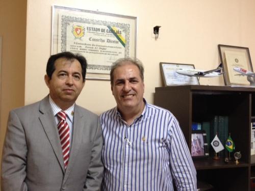 João Roberto Oliveira, governador do Rotary Clube, e   Karam El Hajjar, Coordenador da 34a. Conferência Distrtital