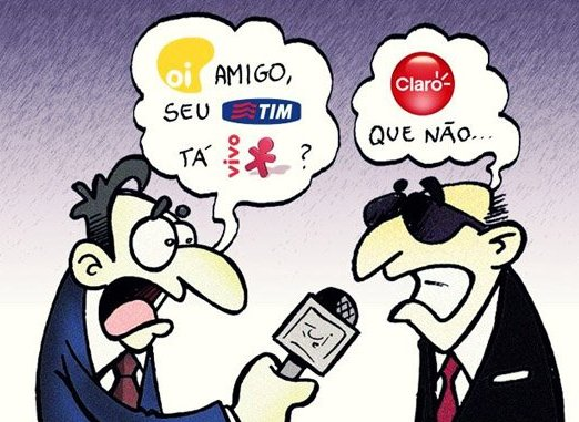 Piada do dia: Oi, Tim, Vivo e Claro